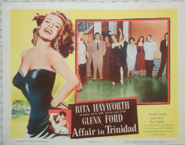 Affair in Trinidad, Original lobby card, Rita Hayworth, Glenn Ford, '52